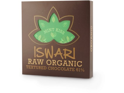 Raw čokoláda - Mint Kiss 75g BIO - 7205_ISWARI_RAW-ORGANIC-CHOCOLATE-MINT-KISS_75G