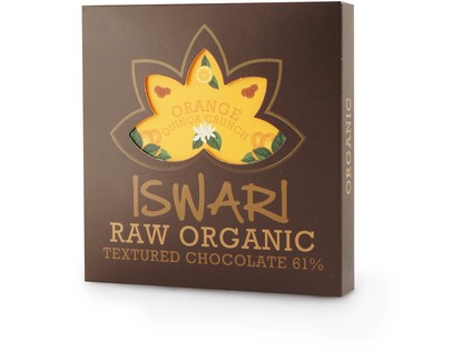 Raw čokoláda - Orange Quinoa Crunch 75g BIO - 7206_ISWARI_RAW-ORGANIC-CHOCOLATE-ORANGE-QUINOA-CRUNCH_75G