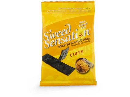 "Snack z mořské řasy ""Nori"" S´weed Sensation curry 10g - 7406_STYKRA_SWEED-SENSATION_CURRY_9G"
